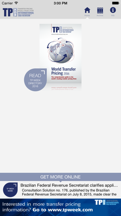 World Transfer Pricing screenshot one