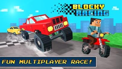 Blocky Racing - Race Block Cars on City Roads