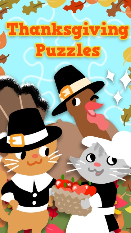 Thanksgiving Puzzles - Fall Holiday Games for Kids screenshot-0