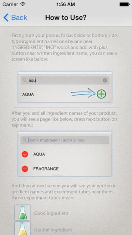 Cosmetic Ingredients Analyser Free screenshot-4
