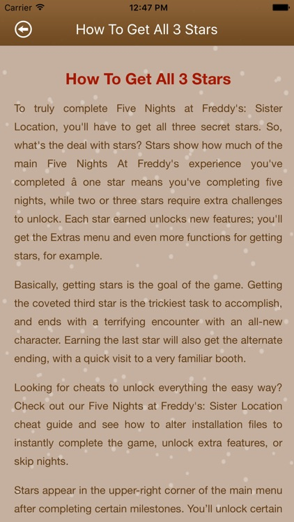 Cheats+Guide For Fnaf Sister Locations