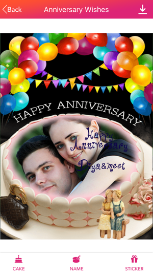 Name Photo On Anniversary Cake On The App Store