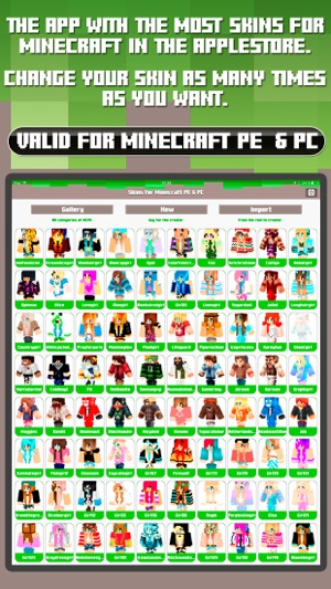 Skins For Minecraft PE PC Free Skins On The App Store - Skins para minecraft de pc