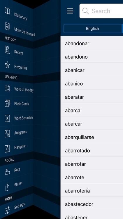 English <-> Spanish CONCISE Dictionary screenshot-4