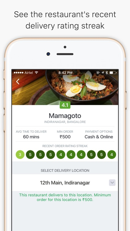 Food delivery & online ordering app - Zomato Order