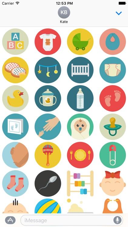 Baby Stickers for iMessage - Pregnancy Mom Emojis screenshot-3