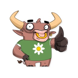 Bull Stickers for iMessage