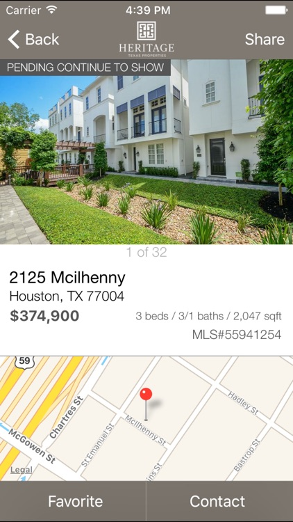 Heritage Texas Home Search