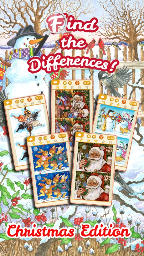 Find the Difference Games: Christmas Edition