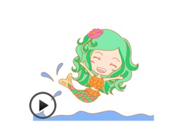 Pretty Mermaid Animated Sticker