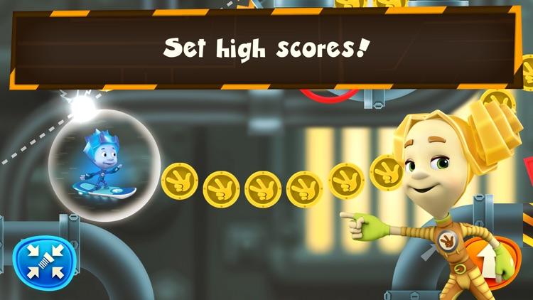 Fixie Surfer endless runner, racing games for kids screenshot-3