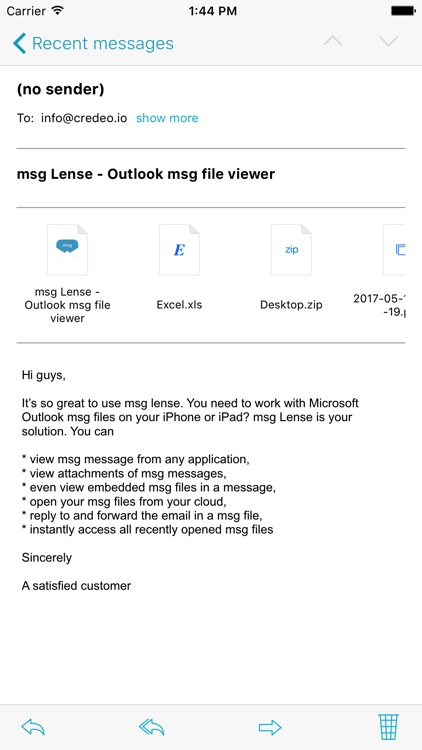 msg Lense - Outlook msg file viewer