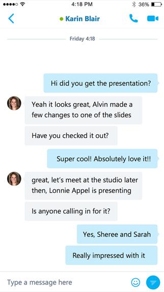 Skype for BusinessScreenshot von 2