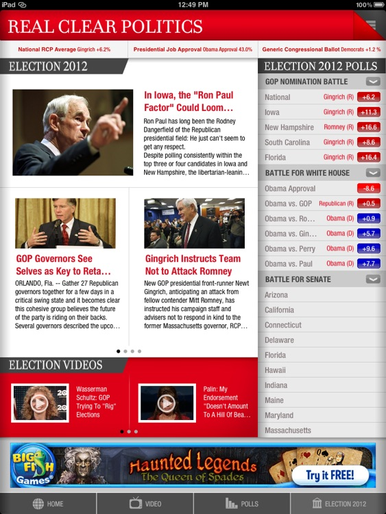 Real Clear Politics for iPad screenshot-2