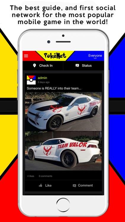 PokeNet - Guide, Maps, and Social Network for Pokemon Go!