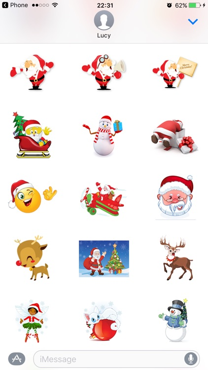 Christmas Stickers Santa Pack for texting