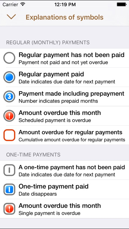 Payments – scheduled earnings and expenses reminder