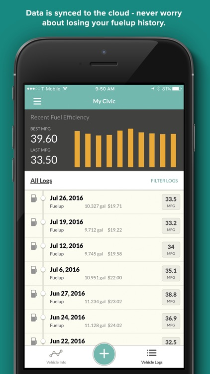 Gas Cubby by Fuelly - MPG, Mileage & Fuel Economy screenshot-3