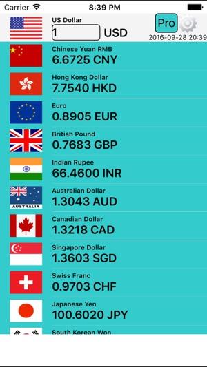 Währungsrechner pro+ Screenshot