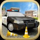 3D do carro de polícia de condução jogos de simula icon