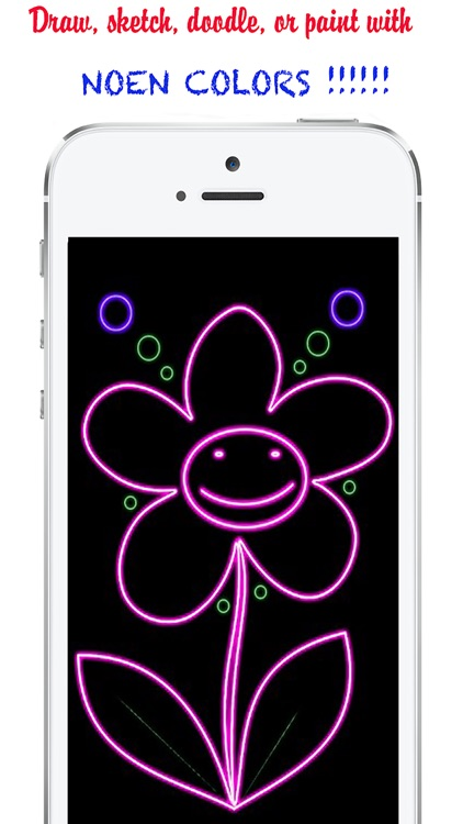 Kids Doodle : Neon lights for kids&drawing