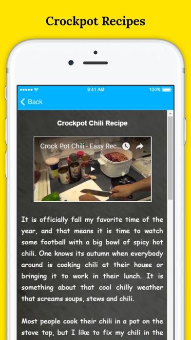 Delicious Slow Cooker Recipes - Healthy Crock-pot Recipes screenshot three
