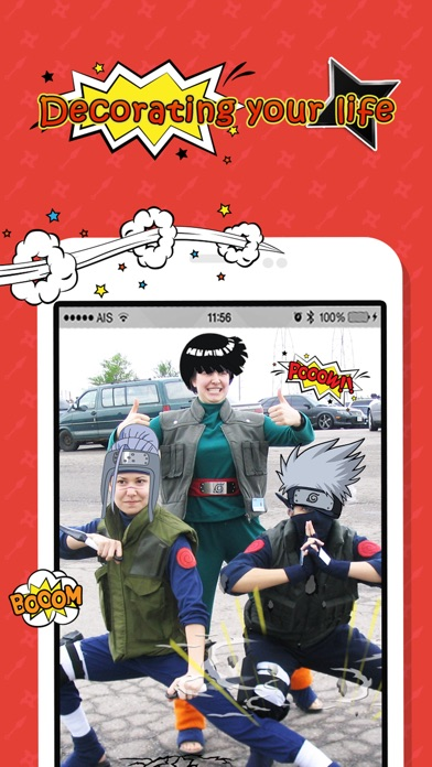 Naruto Edition Camera : Ninja Hair Fan Art Manga Sticker screenshot two