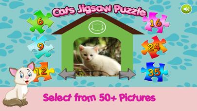 Cute Kitten Cat Jigsaw Puzzle Games For Kids screenshot one