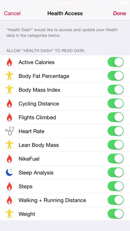 Dashboard for Apple Health App