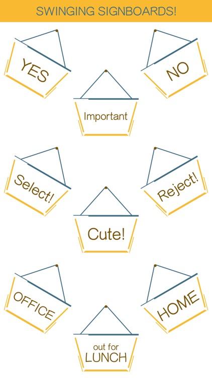 Hang a Sign! II (Dull Blue/Yellow) screenshot-0