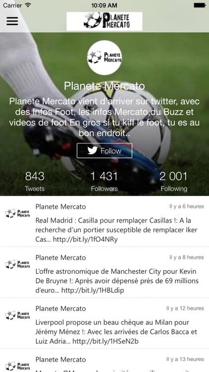 Planete Mercato : infos foot & Videos screenshot-4