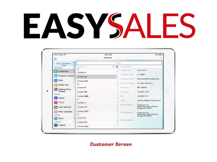 EasySales Mobile Sales Ordering