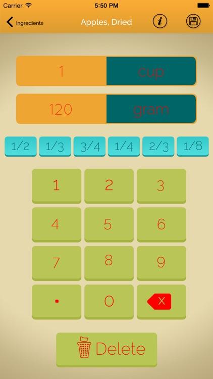 Kitchen Recipe Calculator Pro screenshot-4