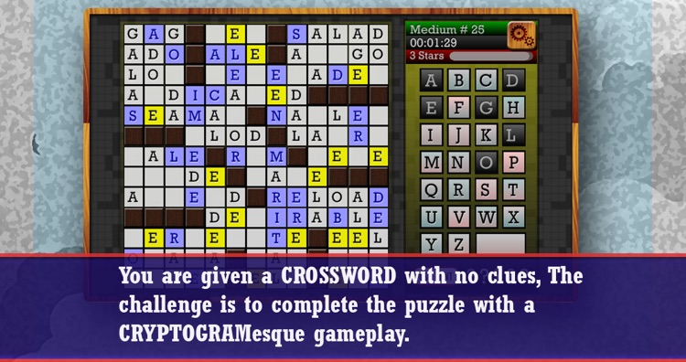 CROSSWORD CRYPTOGRAM - Clueless Crossword Puzzle