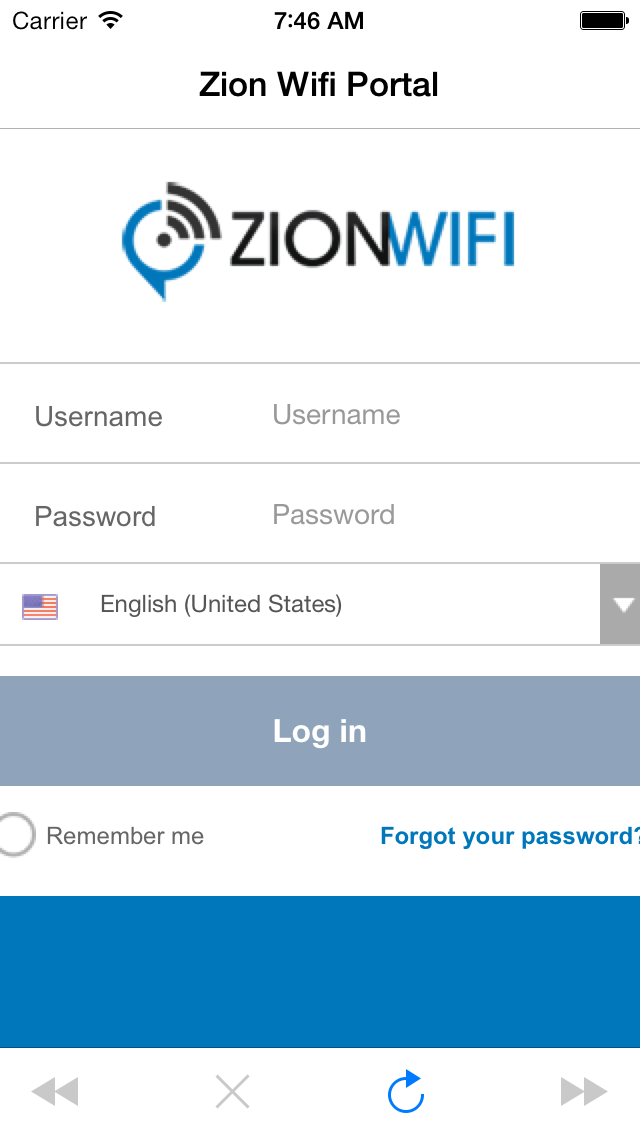 Zion WiFi Portal by FourPointZero Inc  (iOS, United States