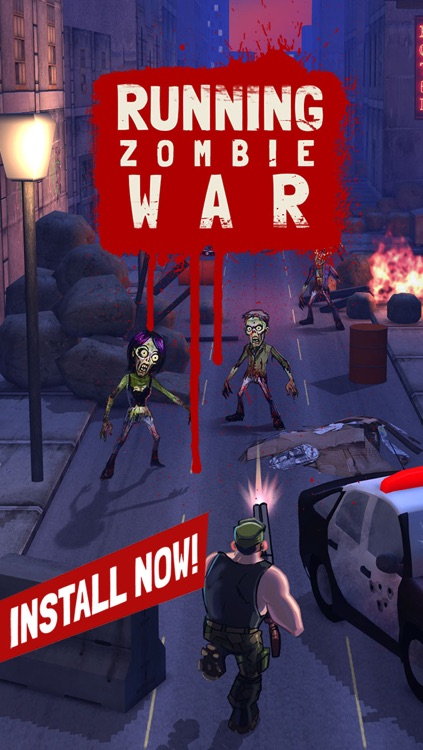 Running Zombie War: Killing Dead - by Fun Games For Free screenshot-4