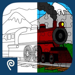 Color It Puzzle It: Trains Lite