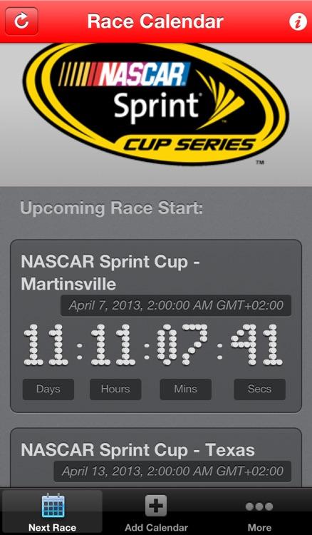 Race Calendar HD screenshot-3