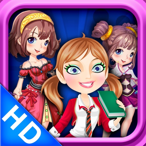 Girls games - Party Dress up HD 4 in 1 icon