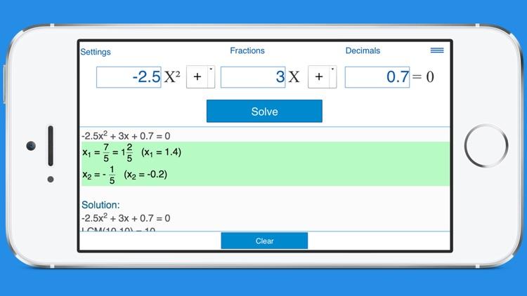 Quadratic Equation Solver with Steps