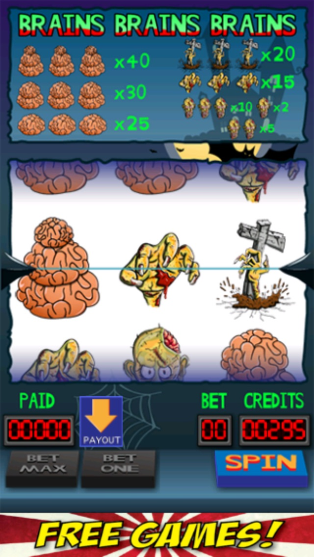 Brains Brains Brains Zombie Casino Slot Machine-2