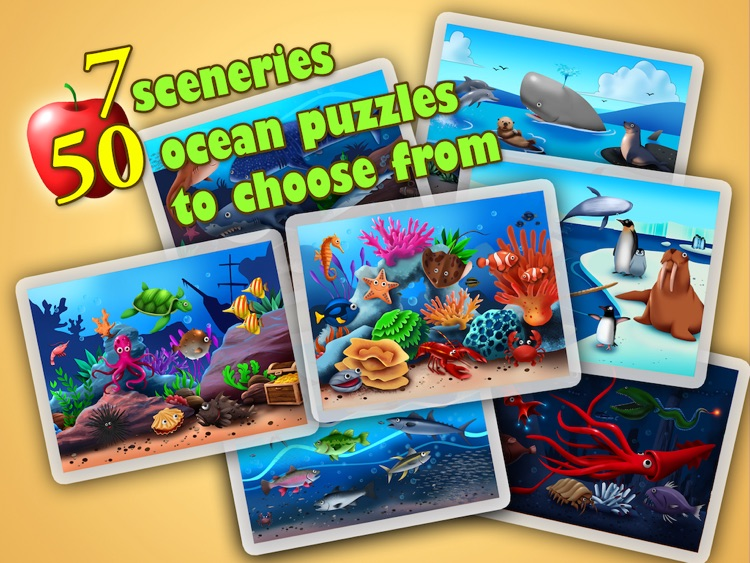 Ocean Jigsaw Puzzle 123 for iPad - Word Learning Puzzle Game for Kids screenshot-4