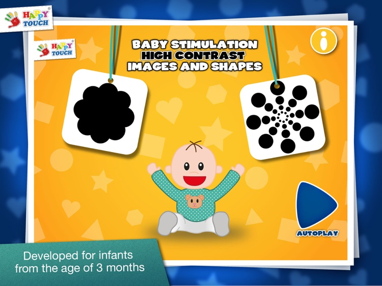 Baby Stimulation: High Contrast Patterns & Shapes - Infant / Baby App by HappyTouch®