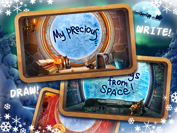 Xmas window - Make winter holiday cards
