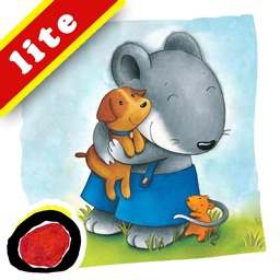 "Miko Wants a Dog: An interactive kids bedtime story book about a mouse wanting a pet to play with and how he gets one by helping his neighbor, by Brigitte Weninger illustrated by Stephanie Roehe (iPad ""Lite"" version; by Auryn Apps)"