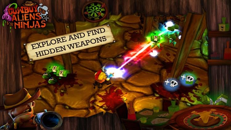 Cowboy Vs Aliens Vs Ninjas screenshot-3