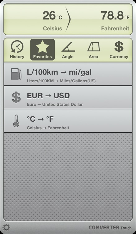 Converter Touch ~ Fastest Unit and Currency Converter