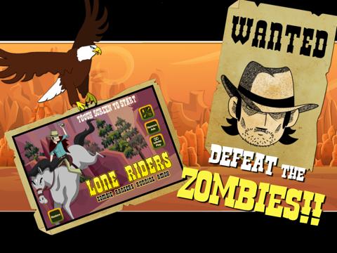 Lone Riders: Zombie Rangers Running Amok-ipad-3