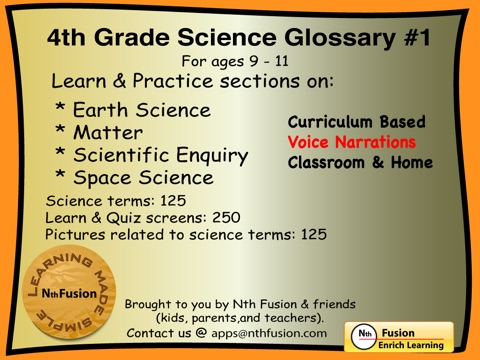 4th Grade Science Glossary 1 Learn And Practice Worksheets For