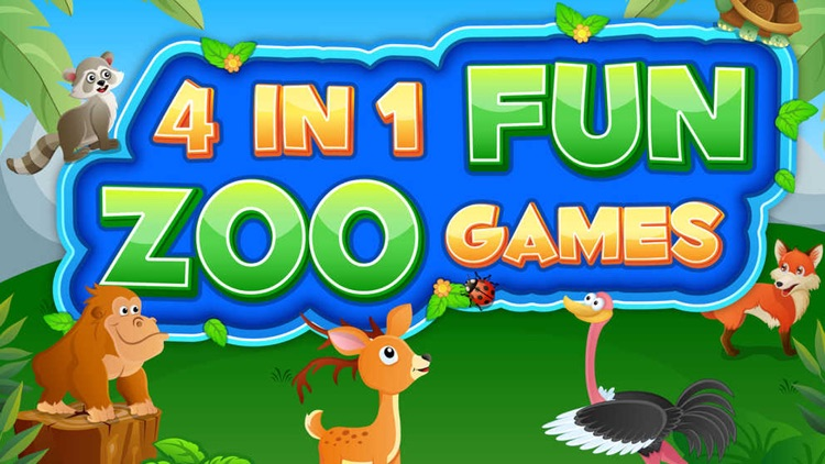 Zoo Animals Activity Set - Paint & Play All In One Educational Learning Games for Kids screenshot-3